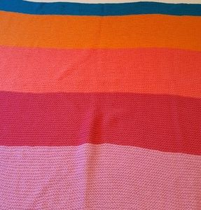 Other - Multicoloured Hand Knit Throw